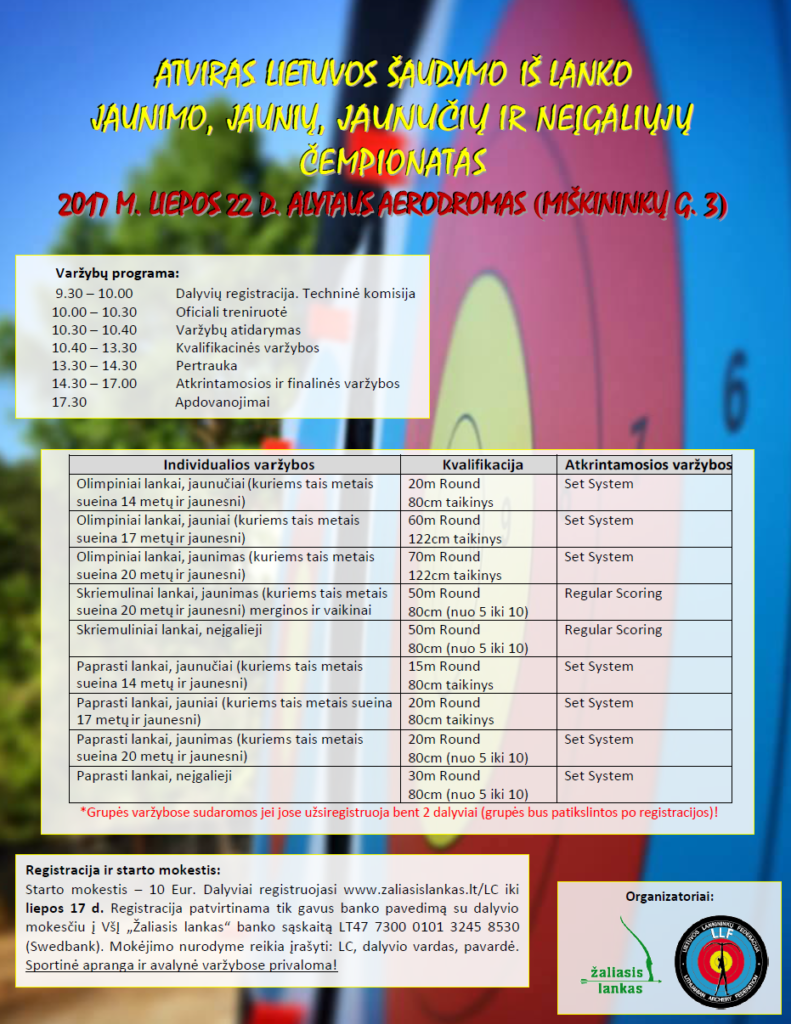 Kvietimas į Lietuvos čempionatą